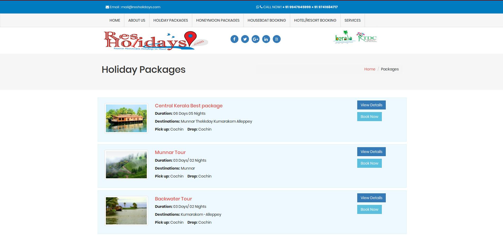 Res Holidays travel company